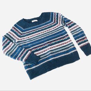 HOLLISTER Striped Ski Sweater M